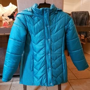 Justice girls puffer jacket with hood NWOT